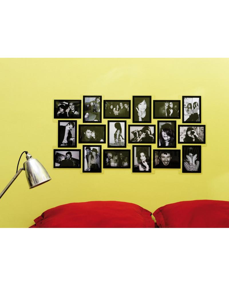 2 cadres photo p le m le module carr pour 18 photos. Black Bedroom Furniture Sets. Home Design Ideas