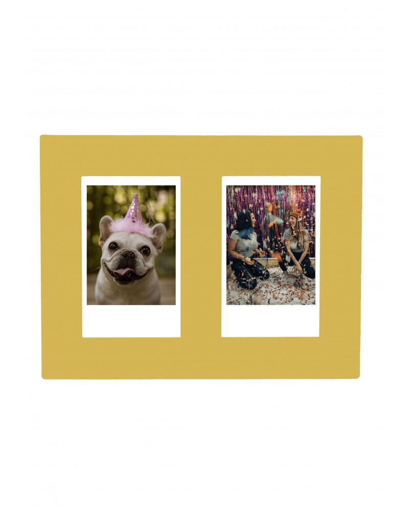 Cadre Photo Doré SlimPYX - Format Instax 2 Photos