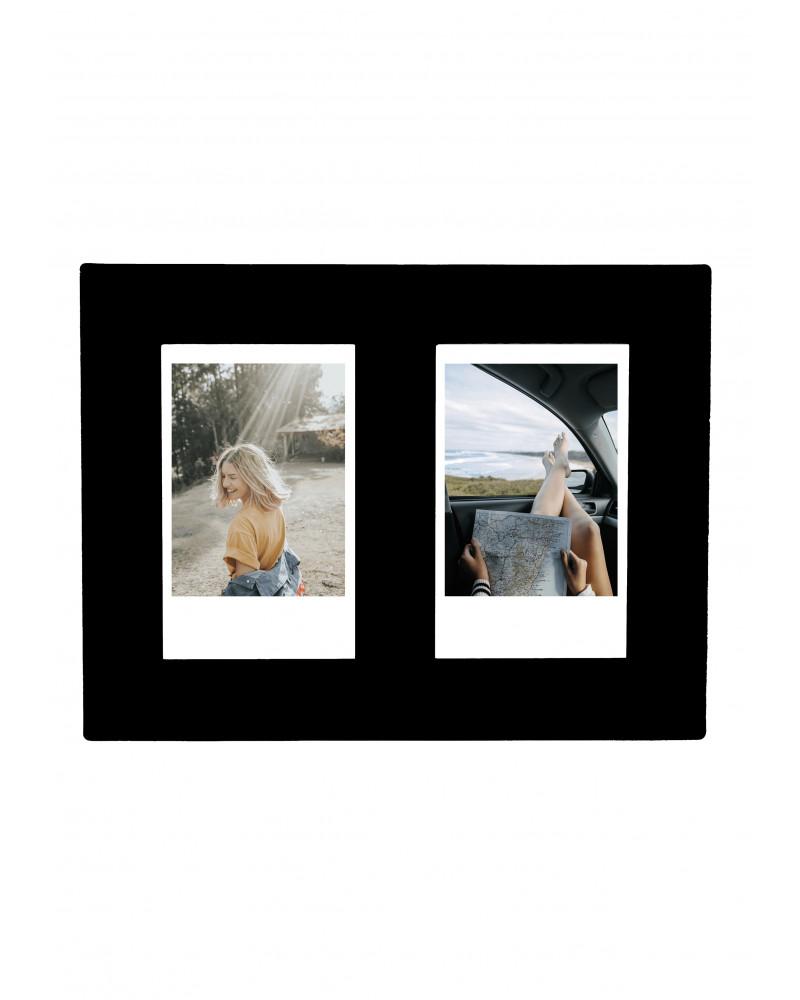Cadre Photo Noir SlimPYX - Format Instax 2 Photos