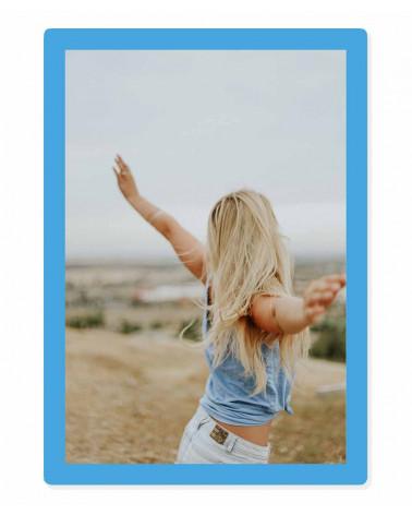 Cadre photo 20x30 cm - A4 - Bleu Clair - SlimPYX -