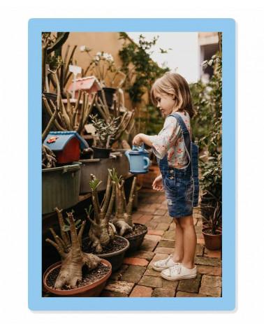 Cadre photo 20x30 cm - A4 - Bleu Ciel - SlimPYX -