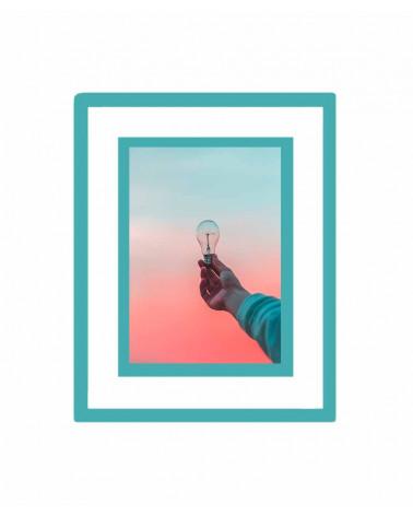 Cadre photo passe-partout 20x30cm - A4 - Turquoise - SlimPYX