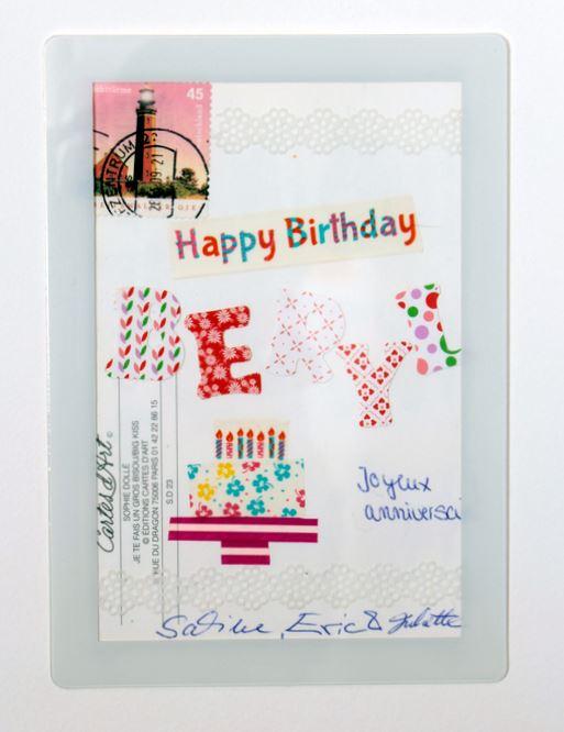 carte d'anniversaire avec collage