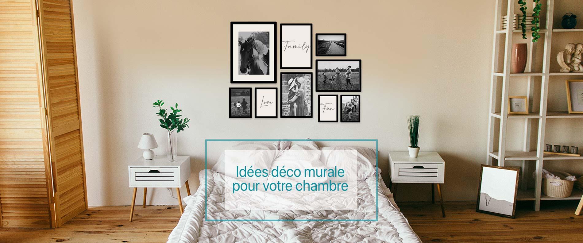 Déco murale chambre   Idées mur de cadres   SlimPYX cadres photos